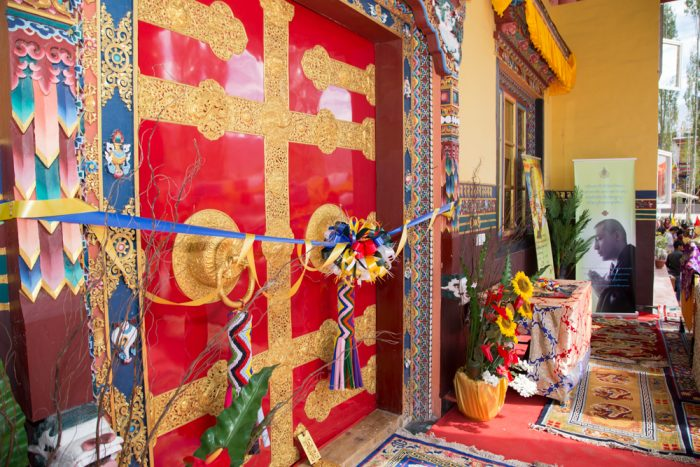 The ribbon-cutting ceremony at the inauguration of Karma Dupgyud Choeling Monastery. Photo / Magda Jungowska