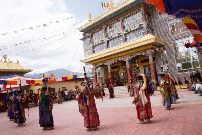 Lama Dance (Garcham Ser-kyem) performed by monks from the Rumtek monastery during the inauguration of Karma Dupgyud Choeling Monastery. The Rumtek monastery was founded by the 16th Karmapa as his main seat when he left Tibet. Photo / Magda Jungowska