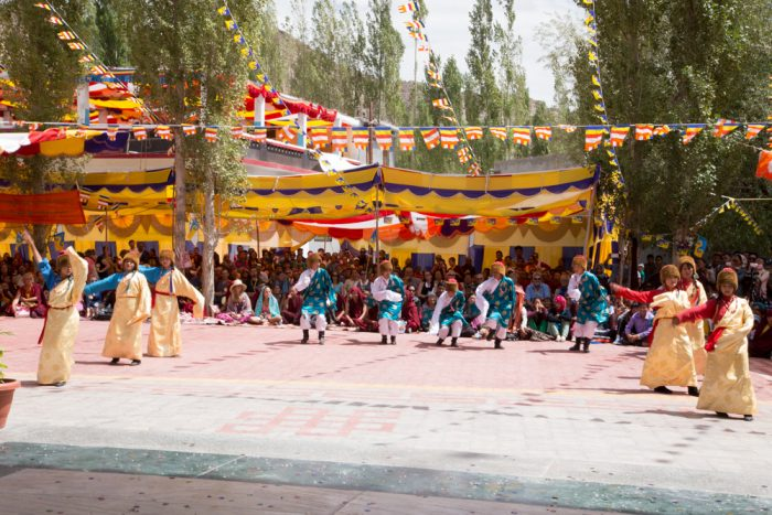 Ladakhi folk dance during inauguration of Karma Dupgyud Choeling Monastery. Photo / Magda Jungowska