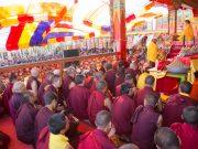 Empowerment of Amithayus (the Buddha of Long Life) by Thaye Dorje, His Holiness the 17th Gyalwa Karmapa. Photo / Magda Jungowska
