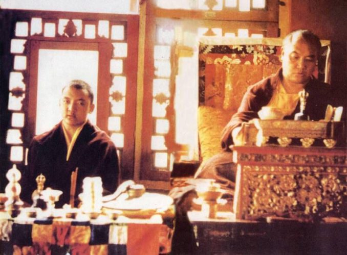 His Holiness the 16th Gyalwa Karmapa Rangjung Rigpe Dorje and His Holiness the 14th Kunzig Shamar Rinpoche Mipham Chokyi Lodro