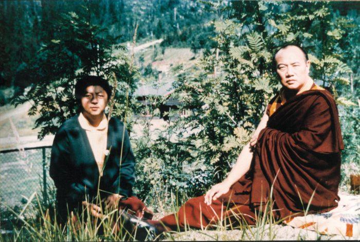 His Holiness the 16th Karmapa and Lama Jigme Rinpoche, 1977. Photo / Bernhard Böhnert
