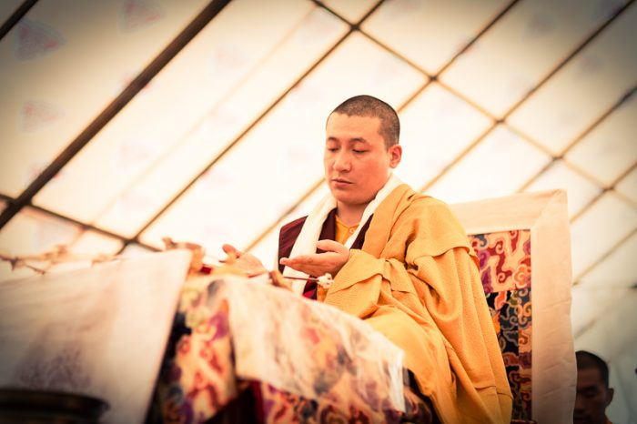 Thaye Dorje, His Holiness the 17th Gyalwa Karmapa, leading the ceremonies. Photo/Tokpa Korlo