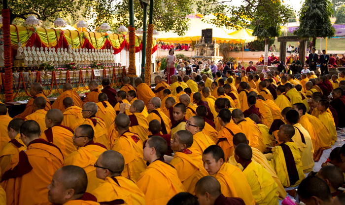 Monks and nuns from different monasteries from across the Himalayan regions have come to Bodhgaya to join in the auspicious event of the Kagyu Monlam