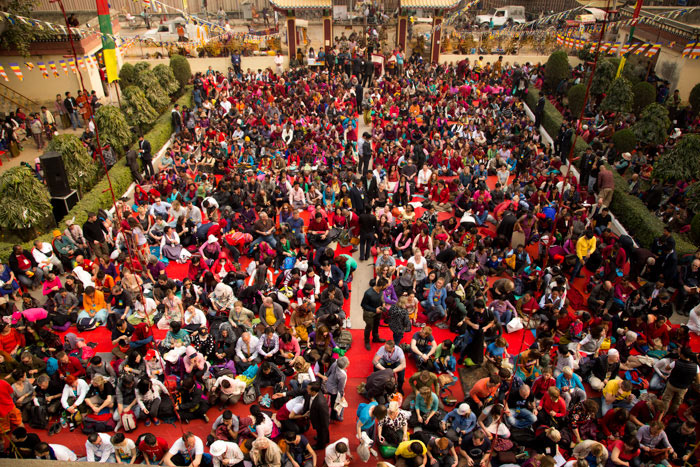More than three thousand devotees gathered to receive the empowerment of Chenresig from His Holiness Gyalwa Karmapa. Photo/Norbu Zangpo