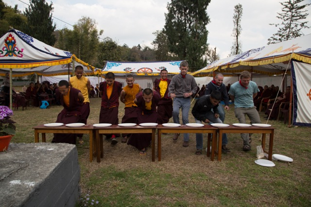 Fun and games on the afternoon of the first day of Losar