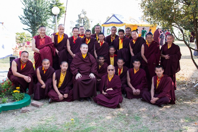 Group picture taken on the second day of Losar