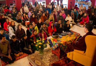 Over a hundred practitioners from over the world have gathered at KIBI to learn some fundamental principles and techniques of meditation