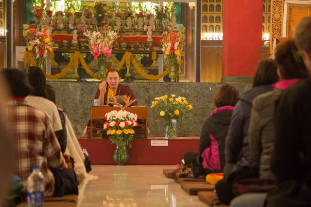 Ven. Dubsing Rinpoche is one of the main teachers during the entire meditation retreat