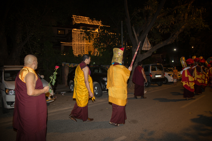 Shamar Rinpoche's kudung arrives in Delhi. Photo/Magda Jungowska