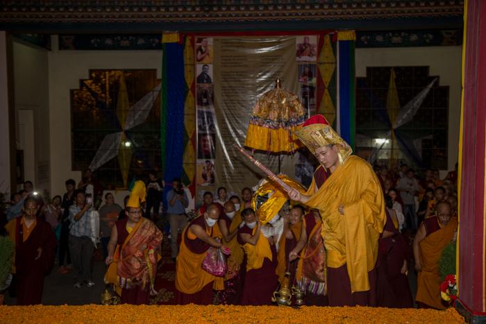 Shamar Rinpoche's kudung arrives in Delhi. Photo/Magda Jungowska