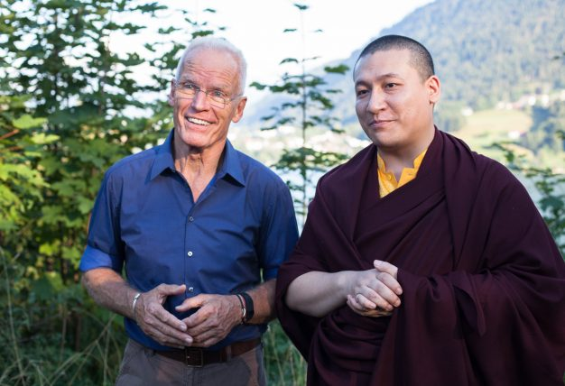 Karmapa and Lama Ole at the Europe Center in 2015