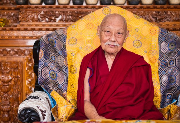 His Eminence Luding Khenchen Rinpoche, the 75th head of the Ngor tradition of the Sakya school of Tibetan Buddhism