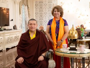 Karmapa and Mrs. Ibu Dewi Kam