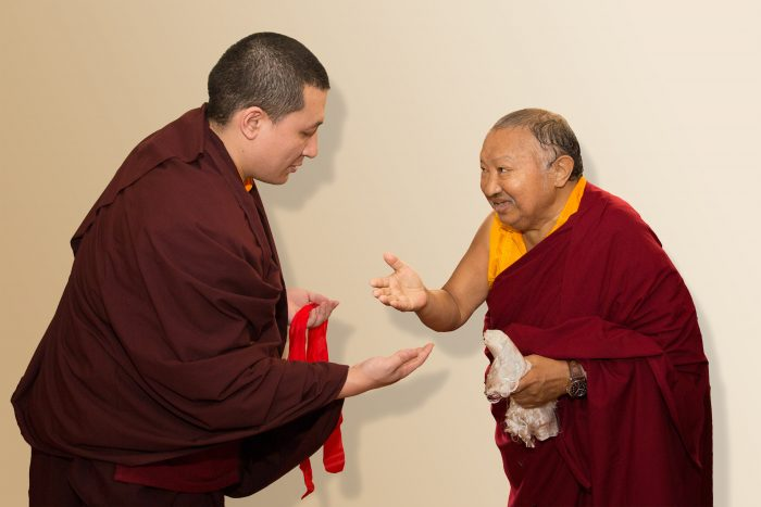 Thaye Dorje, His Holiness the 17th Gyalwa Karmapa, with His Eminence Tsikey Chokling Rinpoche