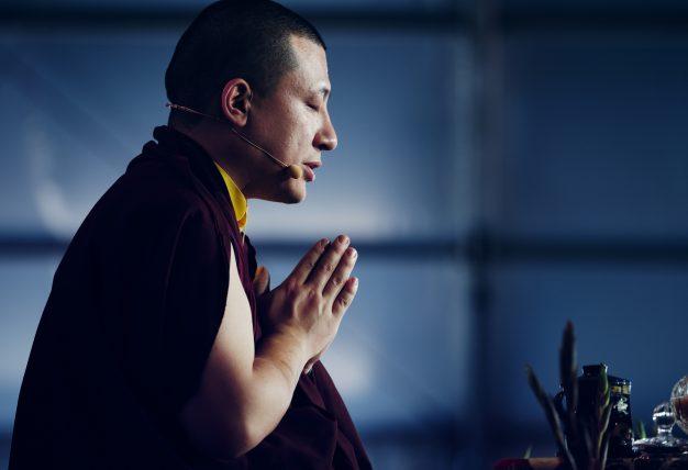 Thaye Dorje, His Holiness the 17th Gyalwa Karmapa, in prayer