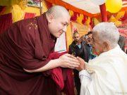 Thaye Dorje, His Holiness the 17th Gyalwa Karmapa, blesses devotees