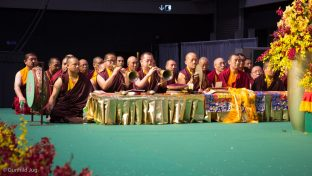 A puja for the deceased, Hong Kong, led by Thaye Dorje, His Holiness the 17th Gyalwa Karmapa