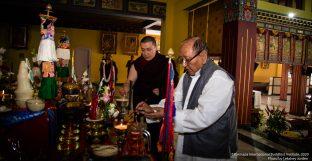 Long life prayer for Thaye Dorje, His Holiness the 17th Gyalwa Karmapa, and Professor Sempa Dorje, on Guru Rinpoche day at Karmapa International Buddhist Institute (KIBI), Delhi