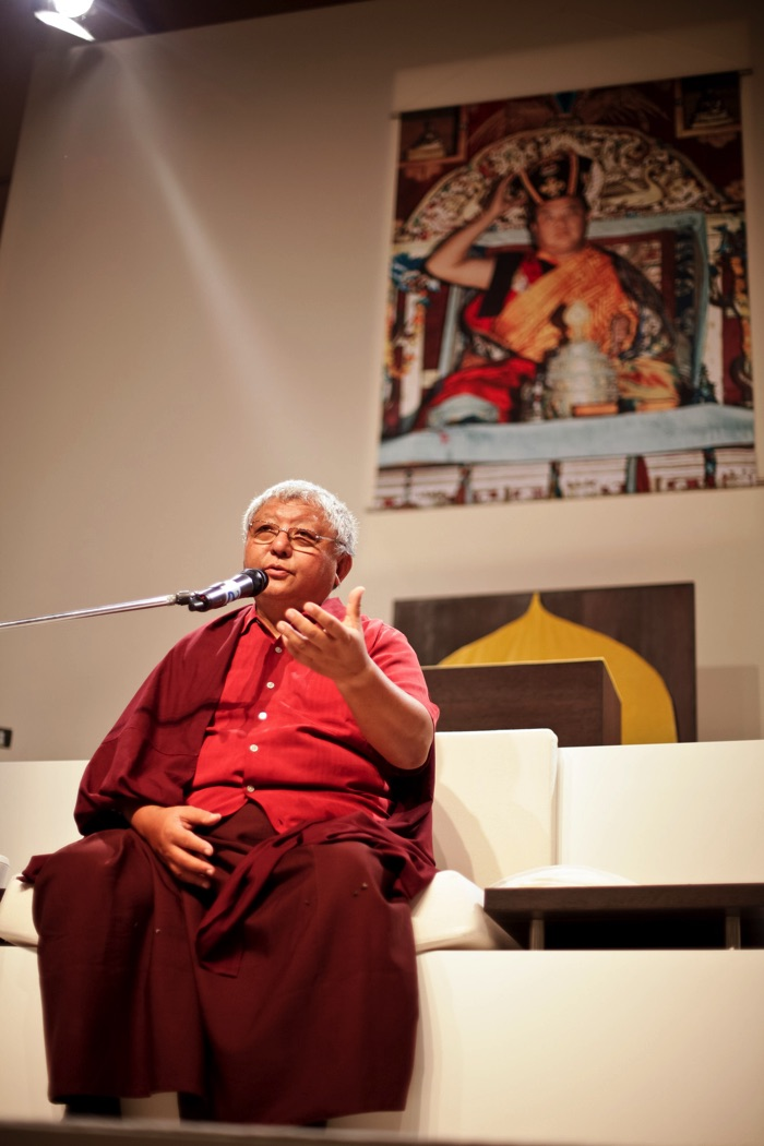 Lama Jigme Rinpoche teaching. Photo / Volen Evtimov