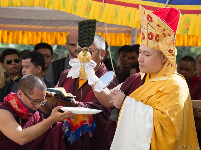 Inauguration ceremonies for the Karmapa Center for Education. Photo / Thule Jug