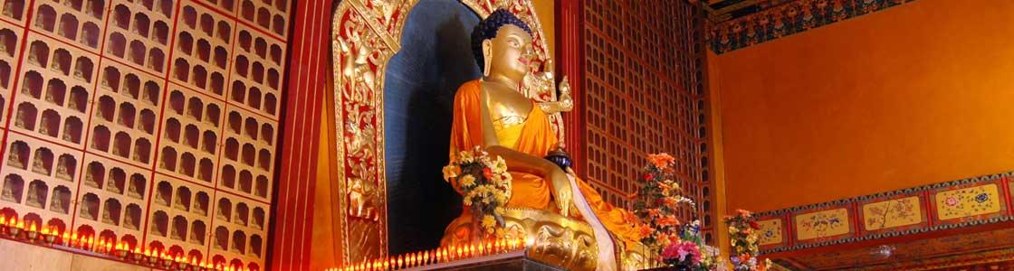The altar at the Karmapa International Buddhist Institute