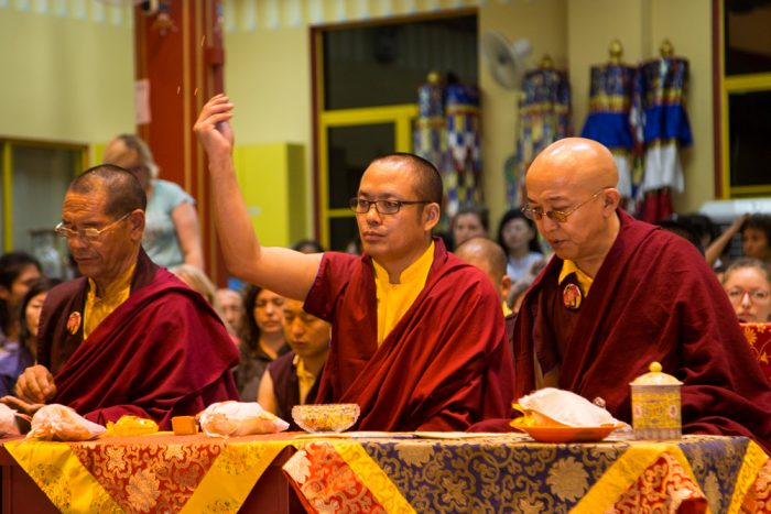 Karma Kagyu lamas at the Amitabha puja in Malaysia 2016. Photo / Magda Jungowska