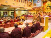 Thaye Dorje, His Holiness the 17th Gyalwa Karmapa, leading the Amitabha puja in Malaysia 2016. Photo / Magda Jungowska