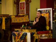 A message from Thaye Dorje, His Holiness the 17th Gyalwa Karmapa. Photo / Norbu Zangpo