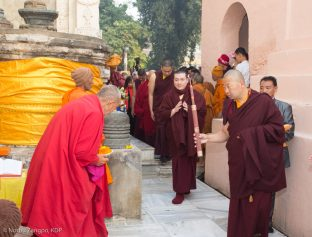 Thaye Dorje, His Holiness the 17th Gyalwa Karmapa, at the Kagyu Monlam in Bodh Gaya, 6–23 December 2017