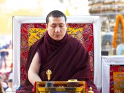 Thaye Dorje, His Holiness the 17th Gyalwa Karmapa, at the Kagyu Monlam 2017