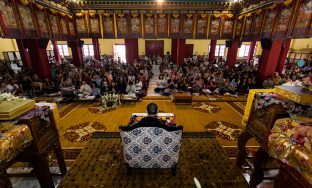 Thaye Dorje, His Holiness the 17th Gyalwa Karmapa, teaching at the KIBI Public Course