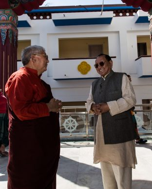 Lama Jigme Rinpoche and Professor Sempa Dorje at the KIBI Public Course