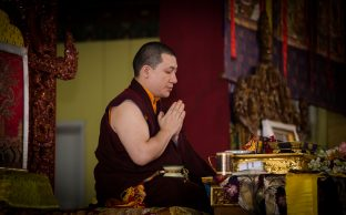 Thaye Dorje, His Holiness the 17th Gyalwa Karmapa, at the KIBI Public Course