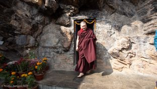 Karmapa visited the retreat centre at Pharping and various local holy sites