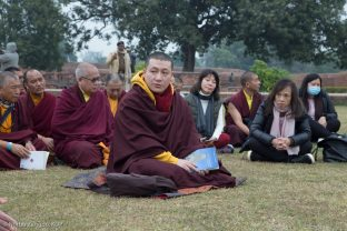 Thaye Dorje, His Holiness the 17th Gyalwa Karmapa, made a pilgrimage to the site of the ancient Buddhist University of Nalanda