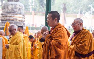 Thaye Dorje, His Holiness the 17th Gyalwa Karmapa, on day two of the 2019 Kagyu Monlam, Bodh Gaya, India, December 2019 (Photo/Norbu Zangpo)