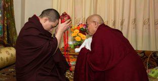 Thaye Dorje, His Holiness the 17th Gyalwa Karmapa, on day three of the 2019 Kagyu Monlam, Bodh Gaya, India, December 2019 (Photo/Norbu Zangpo)