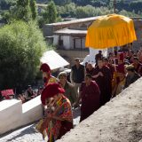Thaye Dorje, His Holiness the 17th Gyalwa Karmapa, arrives at Phyiang Monastery. Photo / Magda Jungowska
