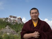 Thaye Dorje, His Holiness the 17th Gyalwa Karmapa, visits the Pothang of Matho Sakya monastery. Photo / Magda Jungowska.