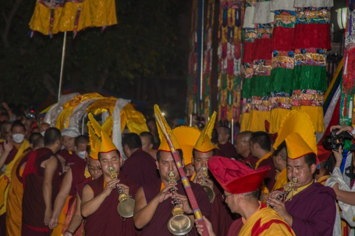 Shamar Rinpoche's kudung arrives in KIBI, India. Photo/Magda Jungowska