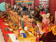 Thaye Dorje, His Holiness the 17th Gyalwa Karmapa, leads the final Chakrasamvara puja