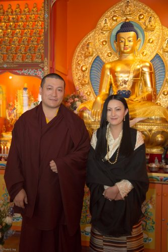 Thaye Dorje, His Holiness the 17th Gyalwa Karmapa, and his wife Sangyumla