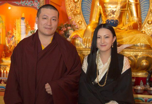 Thaye Dorje, His Holiness the 17th Gyalwa Karmapa, and his wife Sangyumla