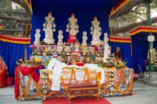 Offerings at the Kagyu Monlam in Bodh Gaya 2017, led by Thaye Dorje, His Holiness the 17th Gyalwa Karmapa