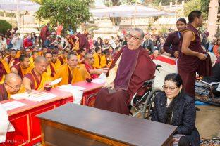 Mipham Rinpoche and Mayum at the Kagyu Monlam in Bodh Gaya, December 2017