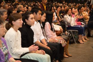 Karmapa's wife Sangyumla Rinchen Yangzom and members of her family attend the Chenresig empowerment in Hong Kong