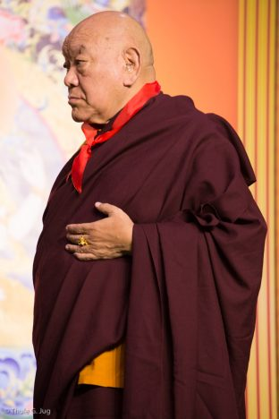 His Eminence Beru Khyentse Rinpoche at the Chenresig empowerment in Hong Kong