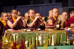 A puja for the deceased, led by Thaye Dorje, His Holiness the 17th Gyalwa Karmapa