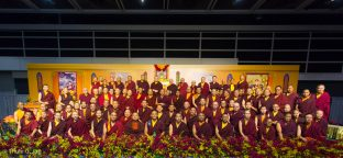 Many Rinpoches and senior lamas and members of the monastic sangha took part in the ceremonies in Hong Kong